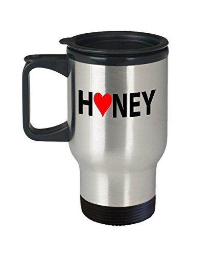 Honey Couples Travel Mugs - Honey - 14oz Stainless Steel - Feb Glasses 31