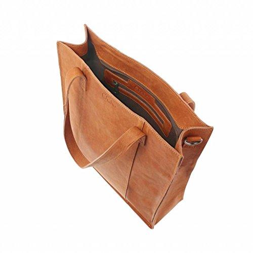 Chabo Bags, Borsa a spalla donna marrone Cognac