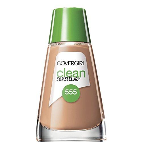 (COVERGIRL Clean Sensitive Skin Foundation Soft Honey - 555 (2 Pack))