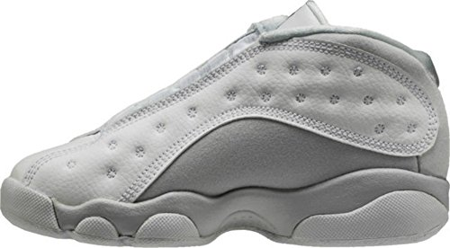 Price comparison product image Air Jordan Retro 13 Low Pure Money Preschool Lifestyle Shoe (White/Pure Platinum/Metallic Silver)