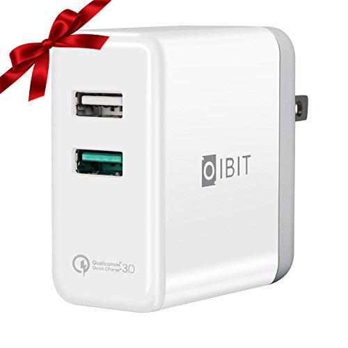 Cheap Wall Chargers QC3.0 Wall Charger,IBIT Dual Port USB Quick Charge 3.0 Wall Charger with..