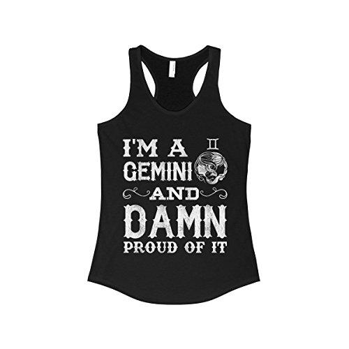 Proud Gemini Women's Tank -Top Tee - Gemini Womens Top