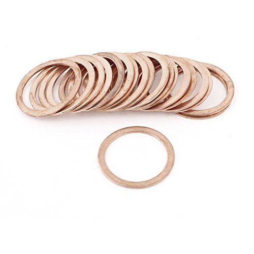 uxcell 20Pcs 30mmx38mmx1.5mm Flat Copper Crush Washer Sealing Ring Gasket (Washer Crush Replacement)