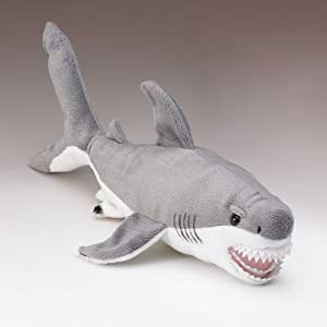 Wildlife Artists Great White Shark Plush Stuffed Toy, Small