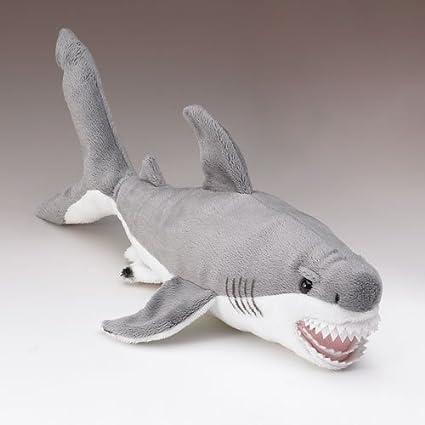 Amazon Com Wildlife Artists Great White Shark Plush Stuffed Toy