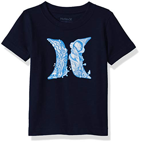 Hurley Boys' Toddler Icon Graphic T-Shirt, Obsidian Octopus, 3T