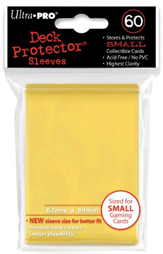 Ultra Pro Card Supplies YUGIOH Deck Protector Sleeves Yellow 60 Count ()