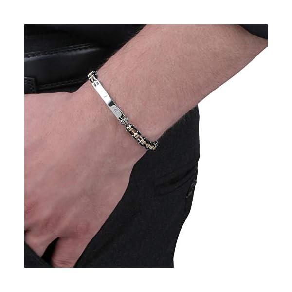 Sector No Limits Bracciale da uomo, Collezione ENERGY Sector Jewels, lunghezza 20, in acciaio e cristalli - SAFT02 3