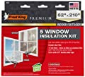 FROST KING V85M Window Insulation Kit, Heavy-Duty, XL, 62 x 210-In. - Quantity 6