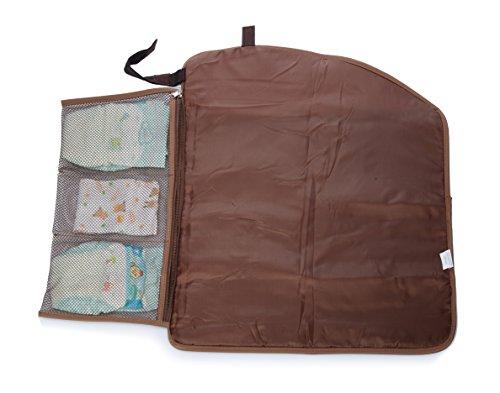 mengma gran capacidad impermeable nailon para pañales bolso Hobos maternidad enfermería bebé bolsa madres clasificación Bag 37* 30cm cierre de cremallera 5colores plateado plata Talla:mediano marrón