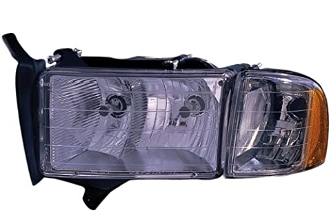 DODGE VAN/PU/SUV RAM PICK-UP (OLD TYPE) HEADLIGHT ASSEMBLY LEFT (DRIVER SIDE) (WITH SPORT) - Dodge Van Headlight Assembly