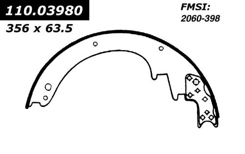 Centric Parts 112.03980 Brake Shoe
