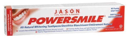 Jason Powersmile Toothpaste, Powerful Peppermint, 6 Ounce (Pack of 4)