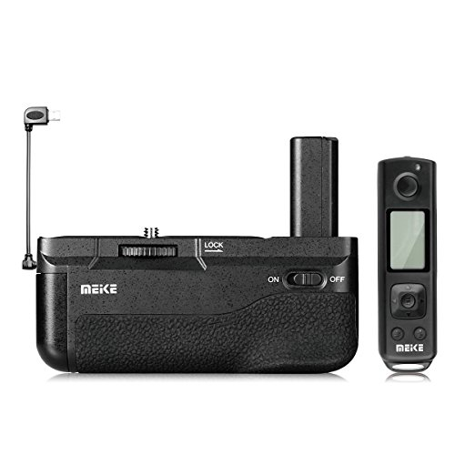 - Meike MK-A6500 Pro Battery Grip Built-in 2.4GHZ Remote Controller Up to 100M to Control Shooting Vertical-Shooting Function for Sony A6500 Mirroless Camera with Wireless Remote Control