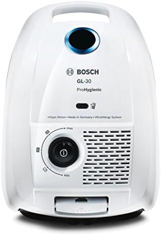 Bosch bgl3hyg proHygienic aspirateur traineau avec sac AAA (Filtre Ultra Allergy U15lavable, adapté pour alérgicos, système powerProtect), couleur blanc et bleu