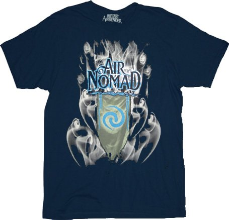 The Last Airbender Air Nomad Smoke Navy Adult T-Shirt Tee