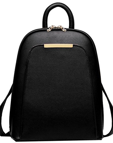 Black Faux Leather Backpacks: Amazon.com