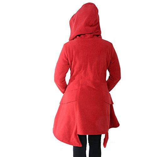 Kunst Magie Rojo Mujer und Chaqueta Trenca para rF1rB