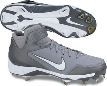baseball metal spikes nike grey training shoes