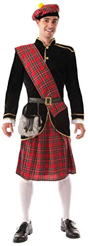 Forum Novelties Men's Scotsman Costume, Red/Black, Standard
