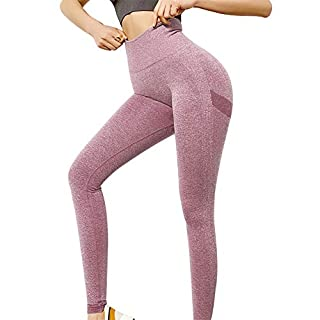NanaDay Seamless Leggings for Women Butt Lift Yoga Pants High Waist Compression Pants Gym Tight Running Workout Leggings(DP-M)