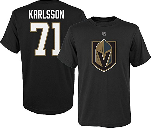 ghts William Karlsson Youth Name & Number Tee, Black, Youth Large 14/16 ()