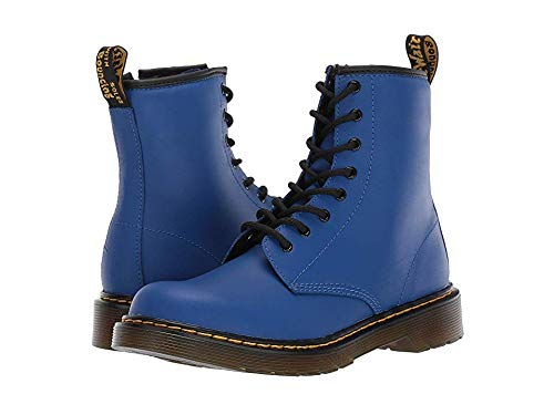 Dr. Martens Kid's Collection Unisex 1460 Delaney Boot (Big Kid) Blue Romario 4 M UK]()