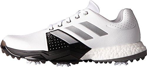 adidas Men's Adipower Boost 3 Golf Shoe, White/SilverMetallic/CoreBlack, 10 M US