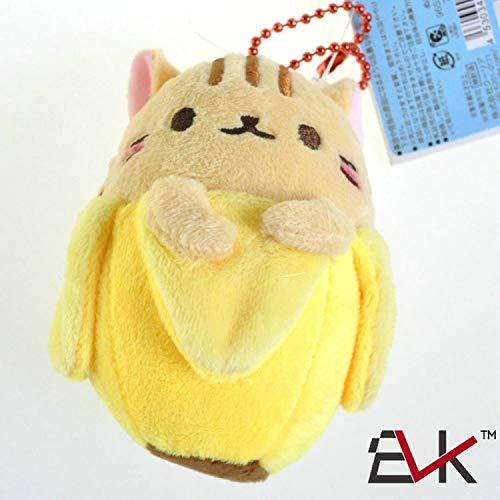 - WATOP Banana Cat Plush Toys Mini Hidden in Bananas Miraculous Kitten Stuffed Dolls Cute Plush Cat Small Pendant (Yellow)