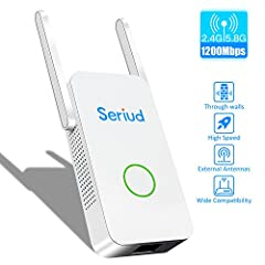 Seriud AC1200 Adopt Qualcomm QCA9531+QCA9886 chipest which ensures a stable signal and excellent quality! Provide your family with wi-fi coverage,eliminate dead zones and say goodbye to buffering!Technical parameters:Hardware:QCA9531+QCA9886 ...