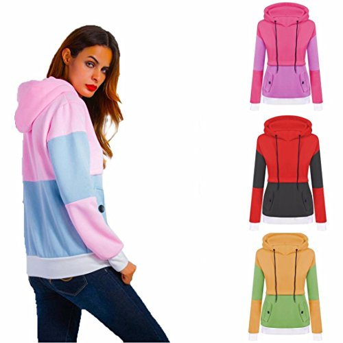 Women Hoodie Hot Sale New Fashion Long Sleeve Tops Hoodie Sweatshirt Jumper Loose Pullover by Neartime (XL, D) by NEARTIME (Image #1)