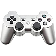 PS3 Controller Wireless Bluetooth Six Axis Dualshock Game Controller for Sony PlayStation 3 PS3 (Silver)