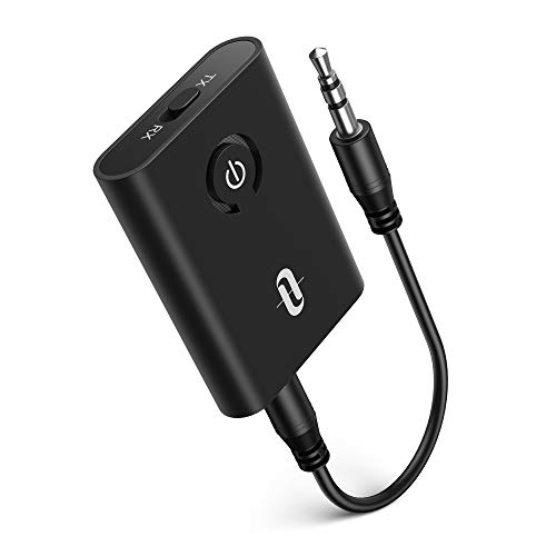 TaoTronics Bluetooth 5.0 Transmitter and Receiver, 2-in-1 Wireless Black