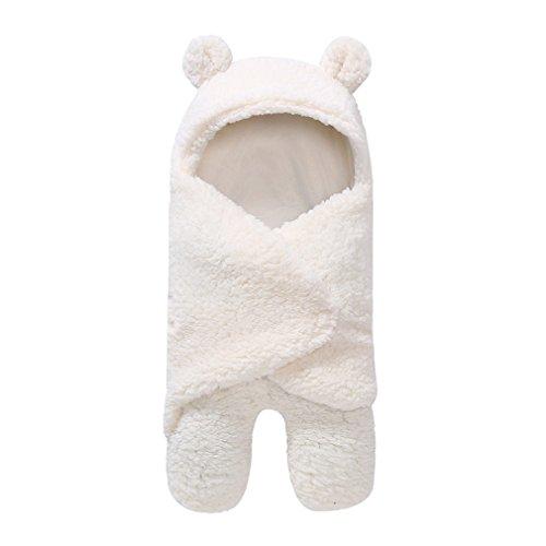 - Baby Blanket Newborn Baby Swaddle Wrap Soft Winter Baby Bedding Blanket White
