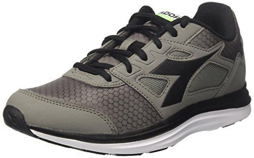 Diadora Men's Heron Win Competition Running Shoes Grey (Grigio Ghiaccio/Nero Fumo) sCpYSv4a