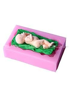 dorme ZYP niño fondant diseño tarta de moho de la decoración de hongos.
