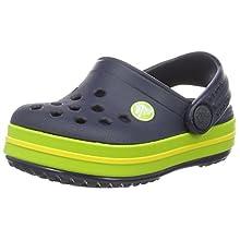 Crocs Crocband Clog K, Zuecos con Correa Unisex-Bambini, Azul (Navy/Volt Green), 22/23 EU