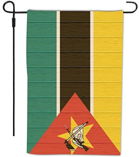 Rikki Knight Mozambique Flag on Distressed Wood Design De...