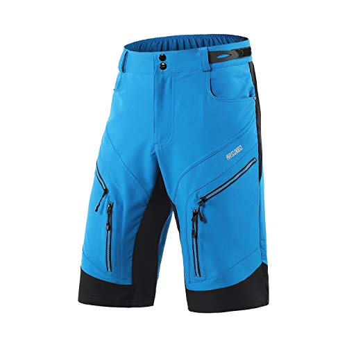 ARSUXEO Men's Loose Fit Cycling Shorts MTB Bike Shorts Water Ressistant 1903