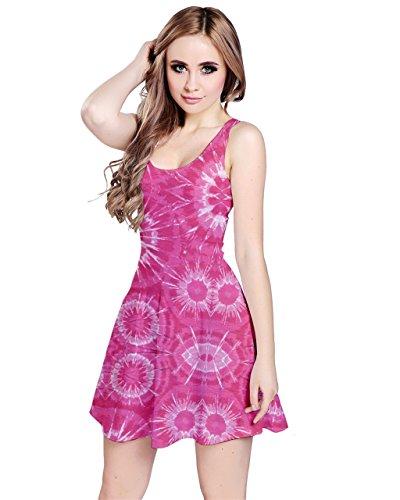 CowCow Damen Kleid Blau crystal blue Gr. XXXXX-Large, hot pink