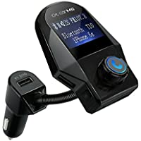 Landnics Bluetooth FM Transmitter In-Car Radio Adapter Car Kit with 3 USB Charger Ports (Black)