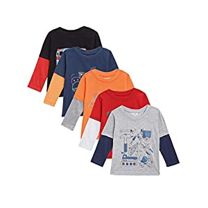 Kuchipoo Boys' & Girls' T-Shirt (Pack of 5)