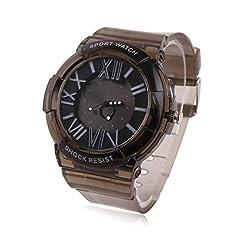 Damara Teens Boy's Silicone Shock Resist Sport Watches,Black