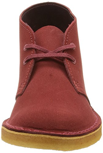 Rojo Botas Suede Mujer Desert Para Clarks Boot cherry xB74XO