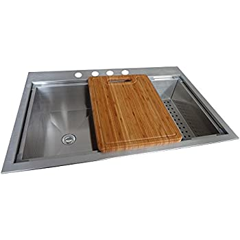 Glacier Bay All In One Dual Mount Stainless Steel 33x22x9