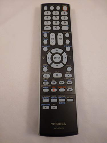 (Toshiba OEM WC-SBH23 TV/VCR/DVD Combo Remote Control PN: 75002758)