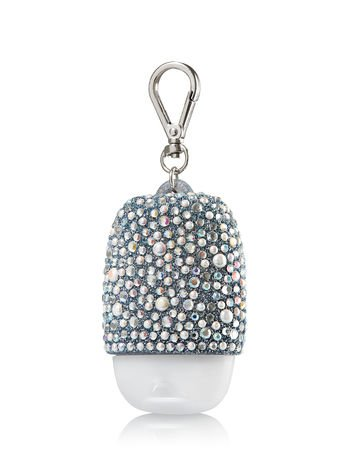 Bath & Body Works PocketBac Hand Gel Holder Silver Sparkle & Shine