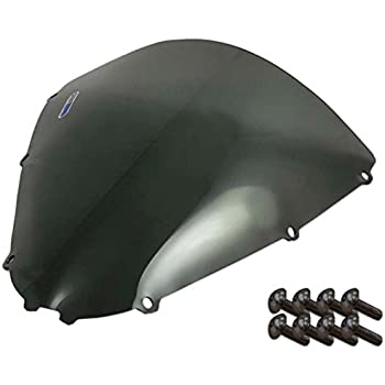 with Silver Screw kit Kawasaki Zx 14 2 Pack Sportbike Windscreens ADKW-409R Red Windscreen 06-14