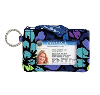 Vera Bradley Zip ID Case Indigo Pop