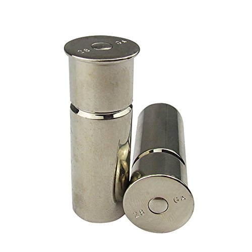 Tourbon Hunting and Shooting Equipment 28 Gauge Snap Caps - Silver (Pack of 2 Pieces)